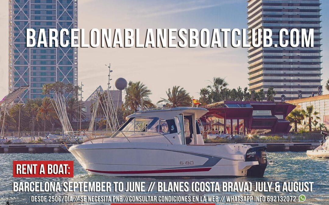 Alquilar barco en Barcelona con ó sin titulo. Port Olímpic.